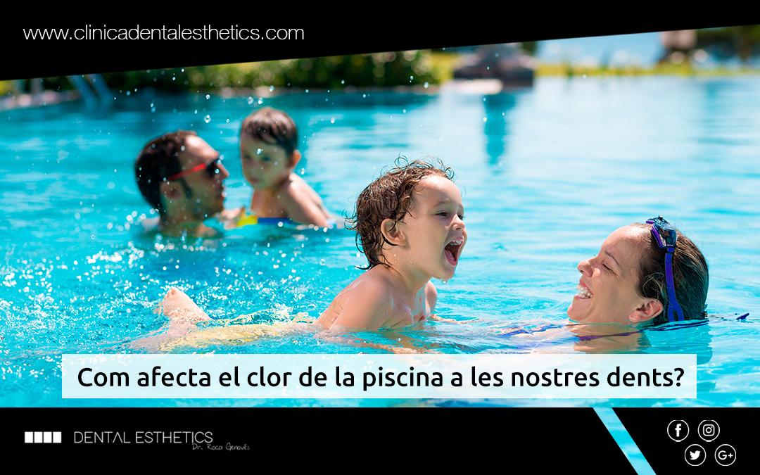 Com afecta el clor de la piscina a les nostres dents?